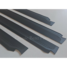 Door Sill Rubber Plate Cover Set of 4 Pieces Black Colour