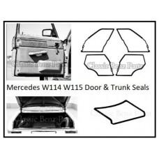 Door and Trunk Boot Lid Rubber Seals