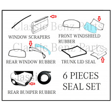 6 Pieces rubber seal set W114 W115 Coupe