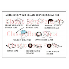 18 Pieces Weathership Rubber Seal Set