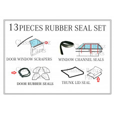13 Pieces Weathership Rubber Seal Set fits Mercedes W116 SEL