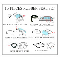 15 Pieces Weathership Rubber Seal Set