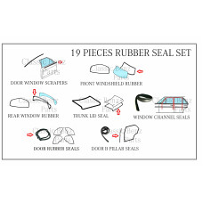 19 Pieces Weathership Rubber Seal Set