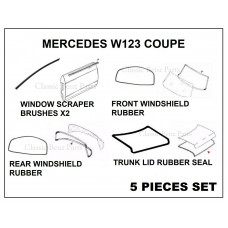 5 Pieces Weathership Gasket and Rubber Kit Mercedes W123 Coupe
