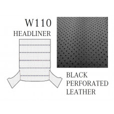 Roof Ceiling Sky Headliner Cream Perforated Leather BLACK