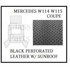 Roof Ceiling Sky Headliner Black Perforated Leather +Sunroof