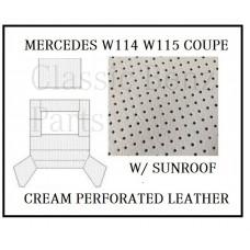 Roof Ceiling Sky Headliner Cream Perforated Leather +Sunroof