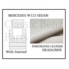 Roof Ceiling Sky Headliner Cream Perforated Leather +Sunroof