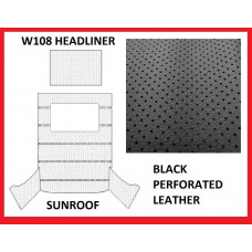 Roof Ceiling Sky Headliner Black Perforated Leather +Sunroof